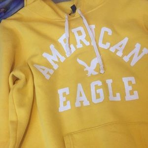 Yellow American Eagle hoodie